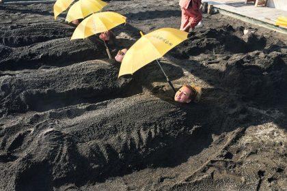 Japan sandbading Beppu